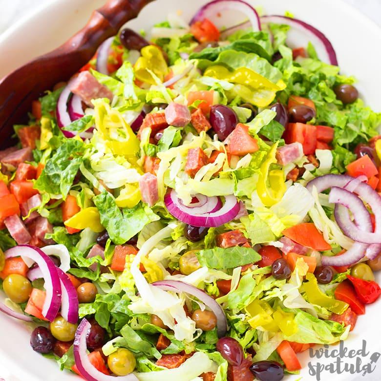 Easy Tossed Big Italian Salad