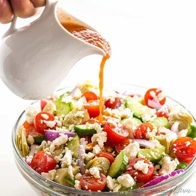 Mediterranean Salad With Sun Dried Tomato Vinaigrette