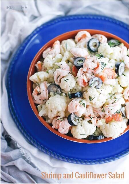 Creamy Shrimp and Cauliflower Salad