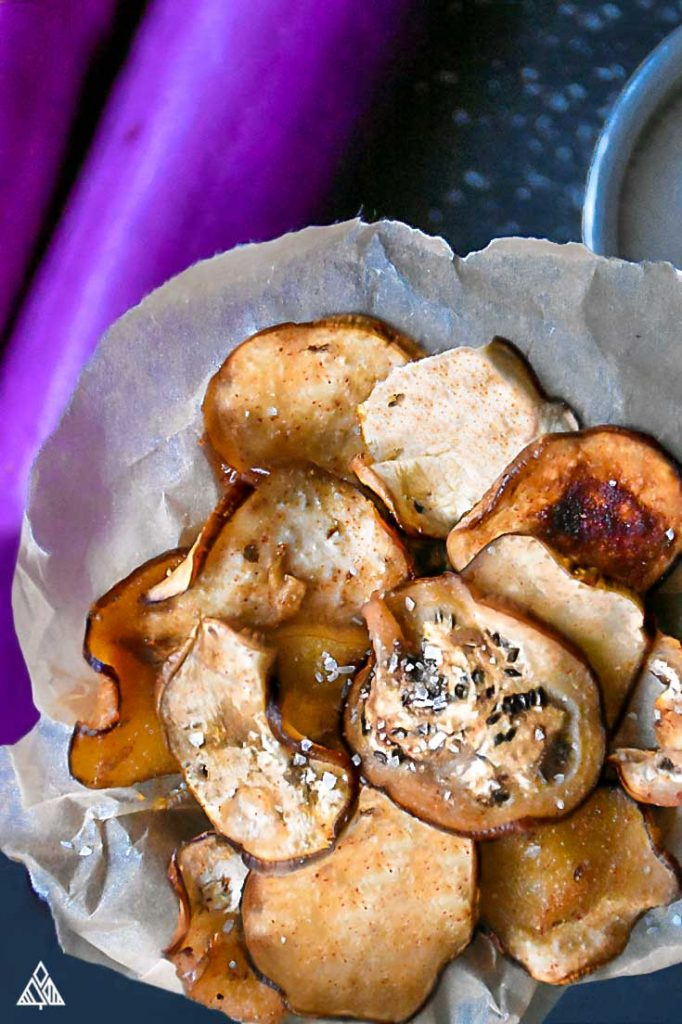Low Carb Eggplant Chips