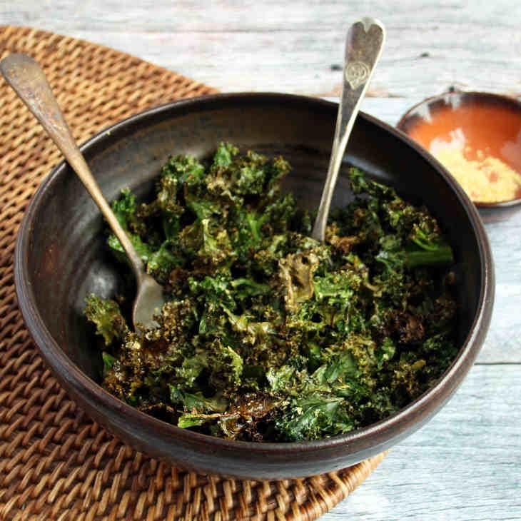 Keto Cheesy Kale Chips Recipe