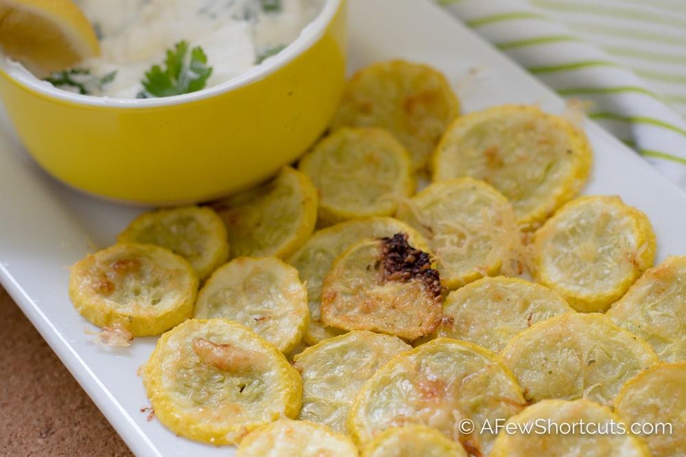 Keto Parmesan Squash Chips