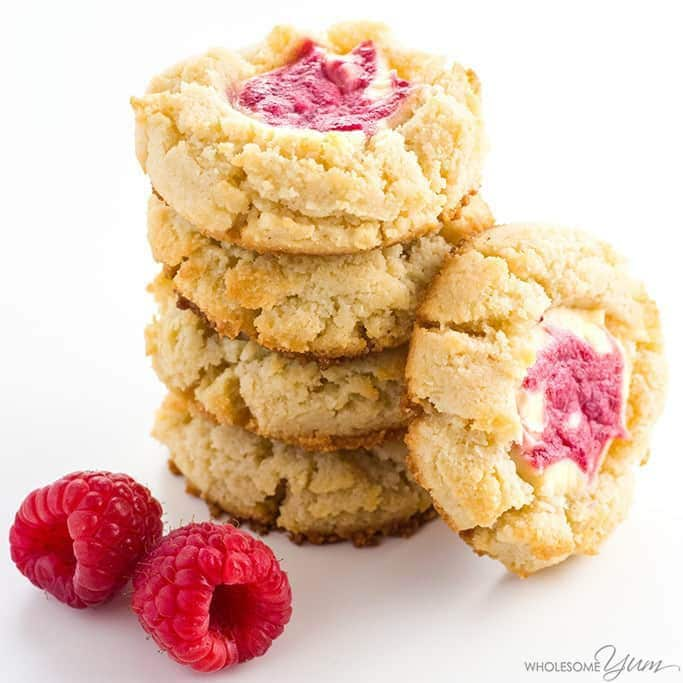 Low Carb Raspberry Cheesecake Cookies