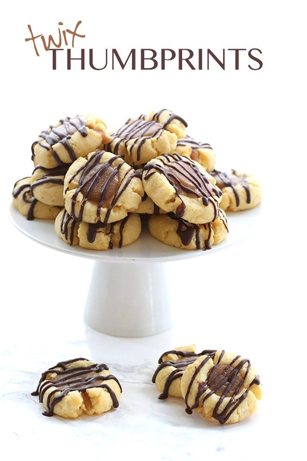 Keto Twix Thumbprint Cookies