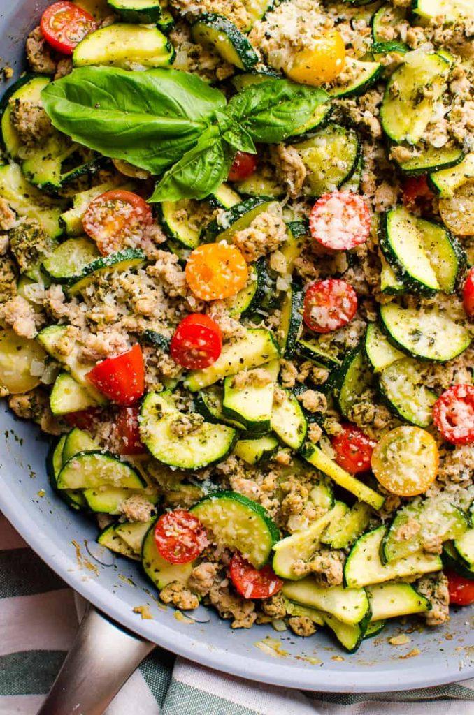 Turkey Zucchini Skillet