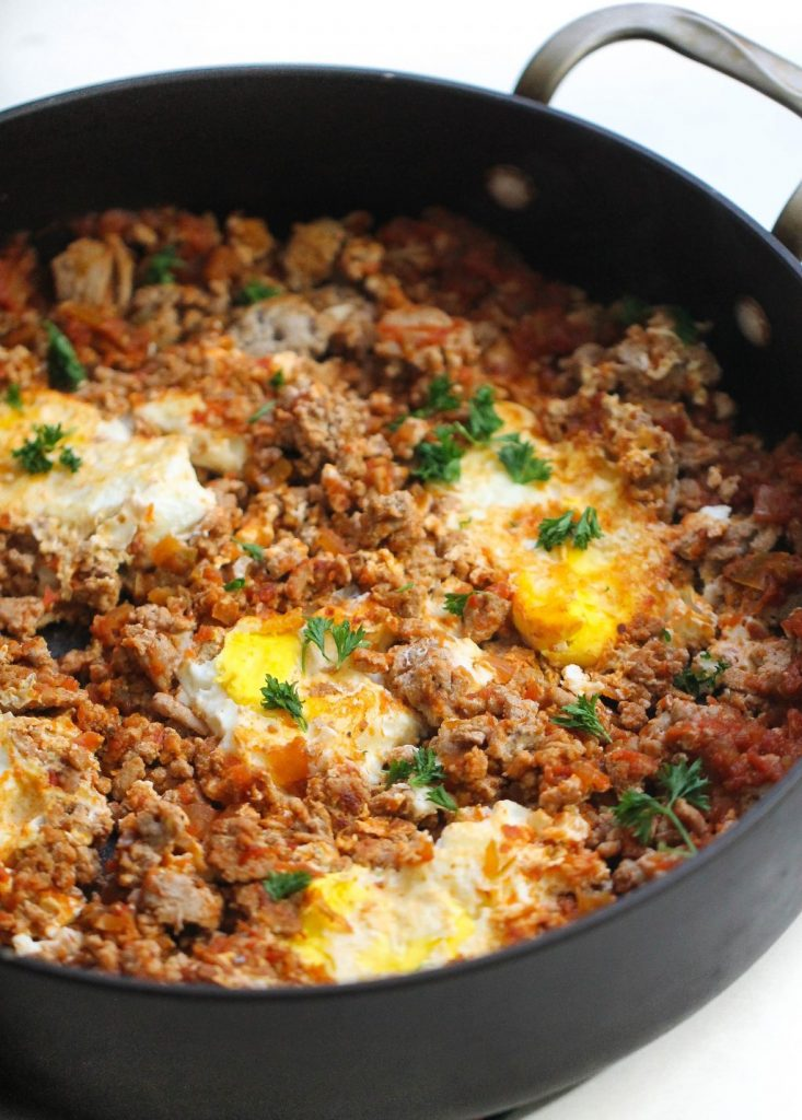 One Pan Egg and Turkey Skillet